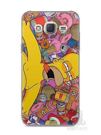 Capa Capinha Samsung J7 Homer Simpson Bêbado