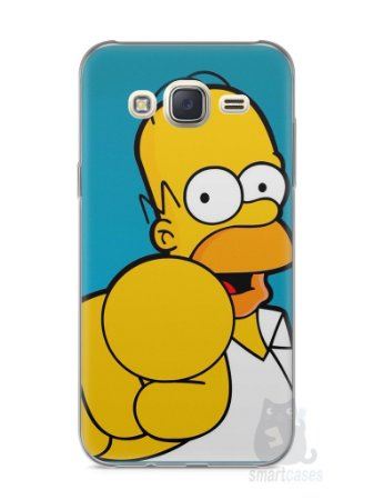 """Capa Capinha Samsung J7 Homer Simpson """"Escolho Você"""""""