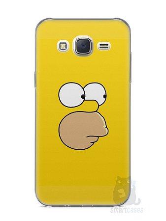Capa Capinha Samsung J7 Homer Simpson Face
