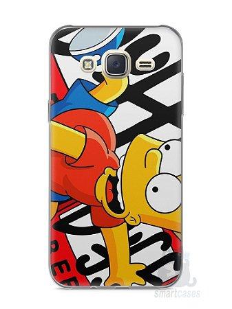 Capa Capinha Samsung J7 Bart Simpson Duff