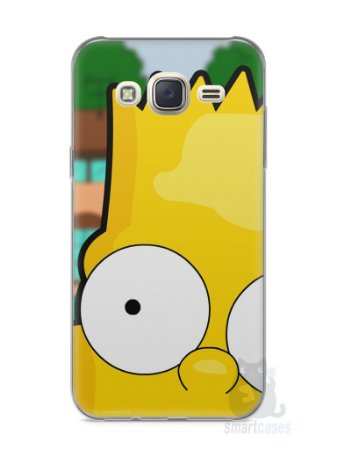 Capa Capinha Samsung J7 Bart Simpson Face