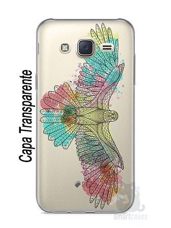 Capa Capinha Samsung J7 Águia Colorida