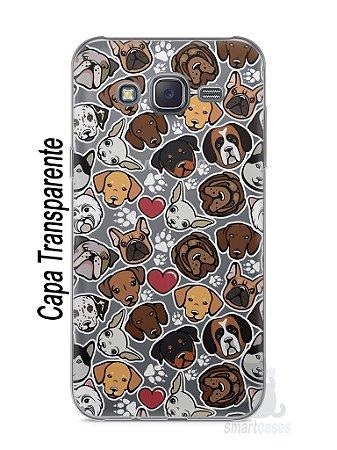 Capa Capinha Samsung J7 Cachorros