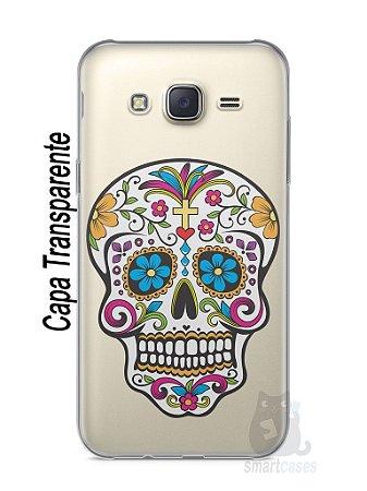 Capa Capinha Samsung J7 Caveira Mexicana