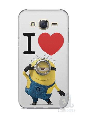 Capa Capinha Samsung J7 I Love Minions