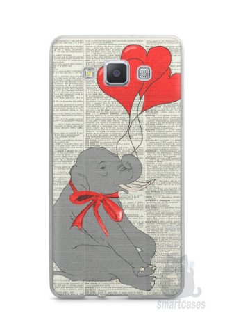 Capa Capinha Samsung A7 2015 Elefante e Corações