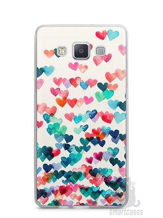 Capa Capinha Samsung A7 2015 Corações Coloridos