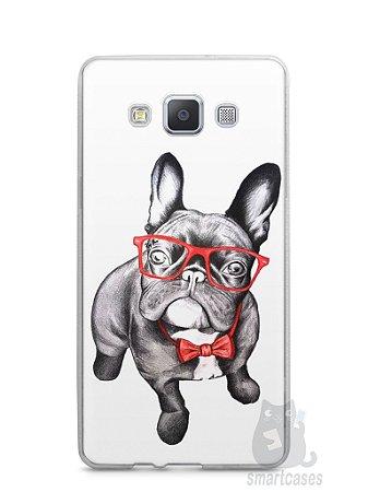 Capa Capinha Samsung A7 2015 Cachorro Bulldog Francês Estiloso
