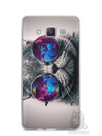 Capa Capinha Samsung A7 2015 Gato Galáxia #1