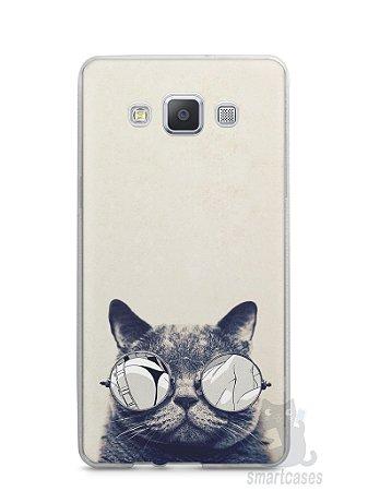 Capa Capinha Samsung A7 2015 Gato Com Óculos