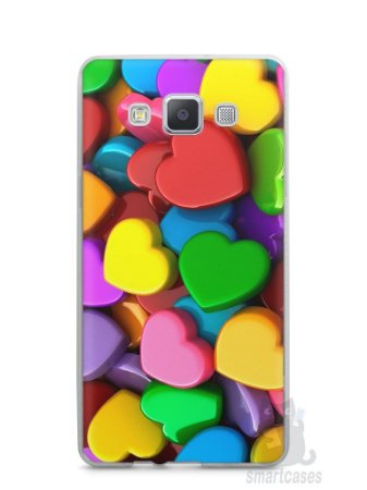 Capa Capinha Samsung A7 2015 Corações