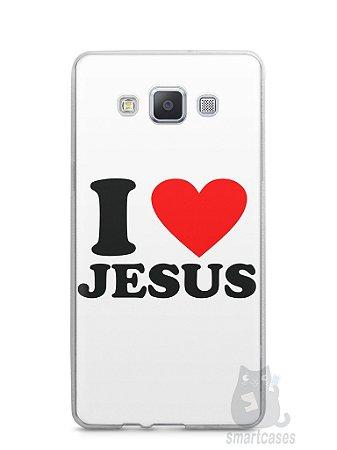 Capa Capinha Samsung A7 2015 I Love Jesus
