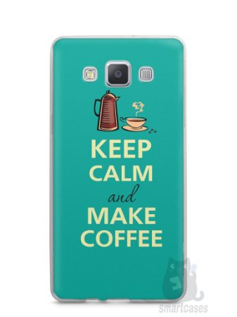 Capa Capinha Samsung A7 2015 Keep Calm and Make Coffee
