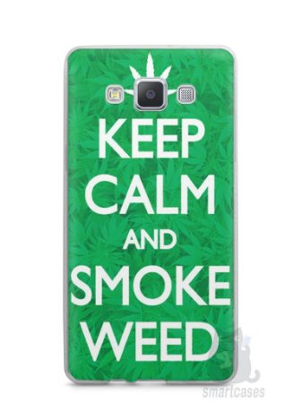 Capa Capinha Samsung A7 2015 Keep Calm and Smoke Weed