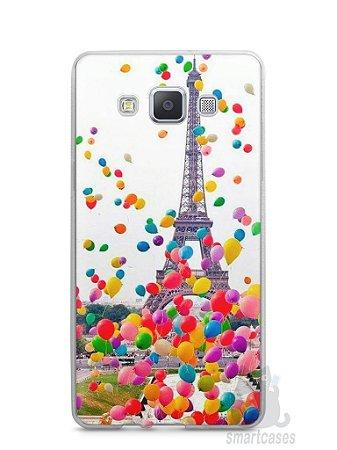 Capa Capinha Samsung A7 2015 Torre Eiffel e Balões