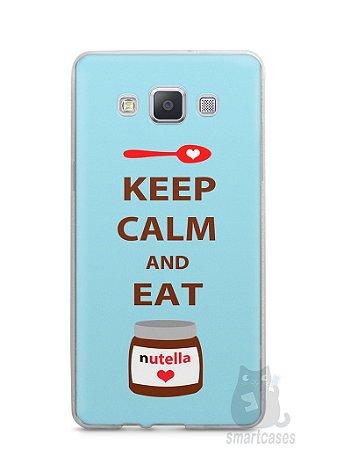 Capa Capinha Samsung A7 2015 Keep Calm and Eat Nutella
