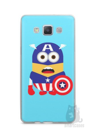 Capa Capinha Samsung A7 2015 Minions Capitão América