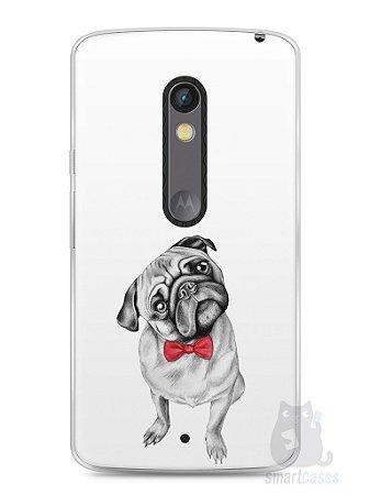Capa Capinha Moto X Play Cachorro Pug Estiloso #2