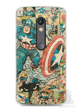 Capa Capinha Moto X Play Capitão América Comic Books #1