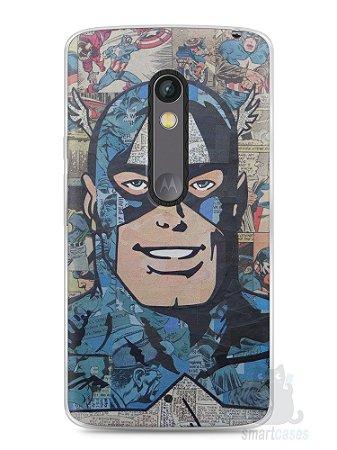 Capa Capinha Moto X Play Capitão América Comic Books #2