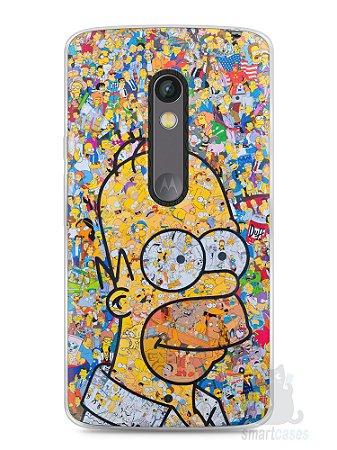 Capa Capinha Moto X Play Homer Simpson Comic Books