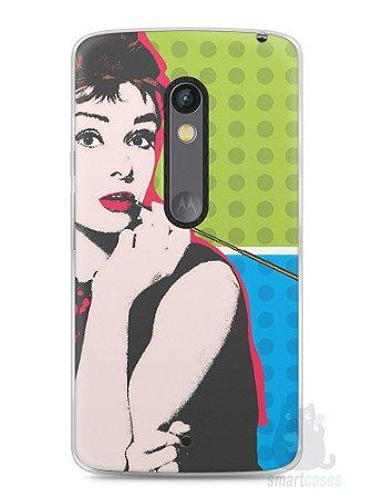 Capa Capinha Moto X Play Audrey Hepburn #3