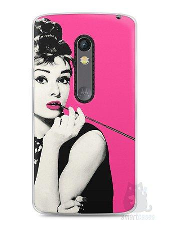 Capa Capinha Moto X Play Audrey Hepburn #4