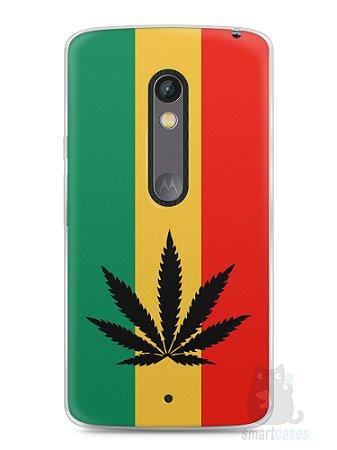 Capa Capinha Moto X Play Rasta Weed #2
