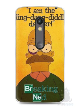 Capa Capinha Moto X Play Homer Simpson Breaking Bad