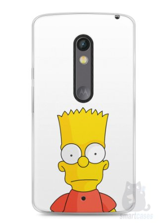 Capa Capinha Moto X Play Bart Simpson