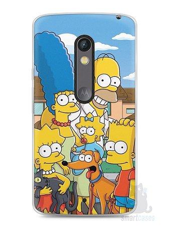 Capa Capinha Moto X Play Família Simpsons #1