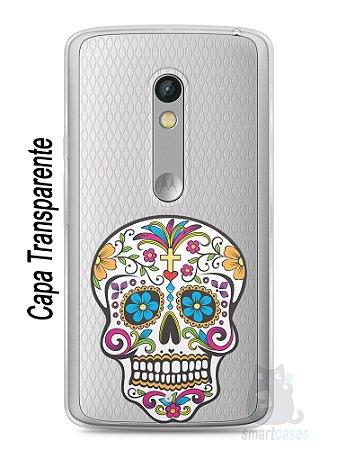 Capa Capinha Moto X Play Caveira Mexicana