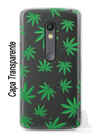 Capa Capinha Moto X Play Maconha #1
