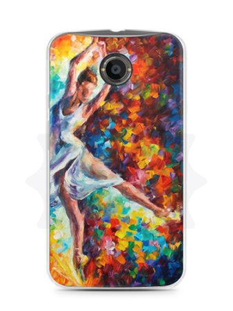 Capa Capinha Moto X2 Bailarina Pintura