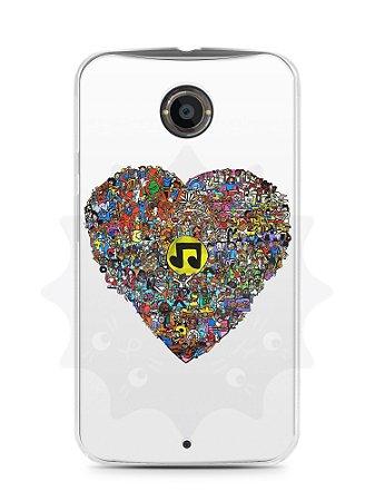 Capa Capinha Moto X2 Coração Personagens