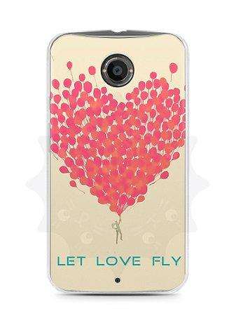 Capa Capinha Moto X2 Deixe o Amor Voar