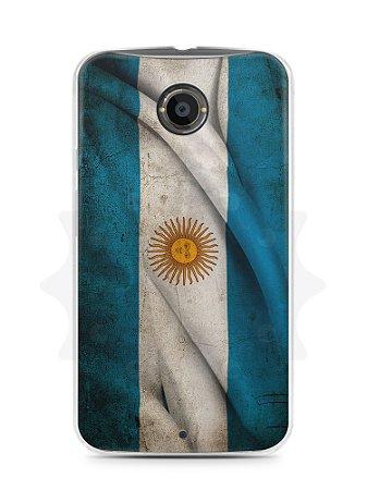 Capa Capinha Moto X2 Bandeira da Argentina #1
