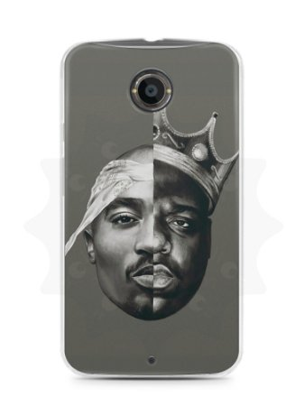 Capa Capinha Moto X2 The Notorious B.I.G e 2Pac