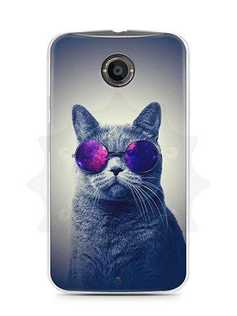 Capa Capinha Moto X2 Gato Galáxia #2