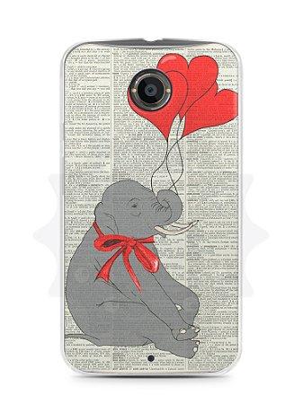 Capa Capinha Moto X2 Elefante e Corações
