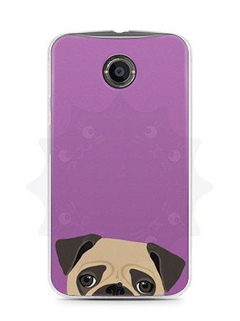 Capa Capinha Moto X2 Cachorro Pug
