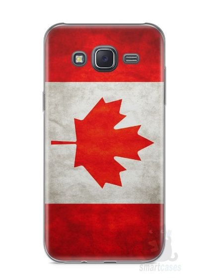 Capa Capinha Samsung J5 METAL Bandeira Canadá #2