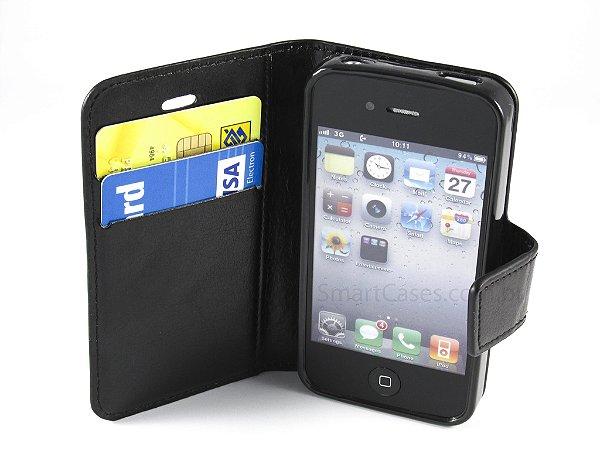 Capa Iphone 4/S Carteira Couro