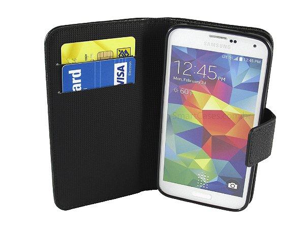 Capa Samsung S5 Carteira Couro