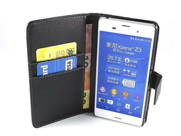 Capa Sony Z3 Carteira Couro