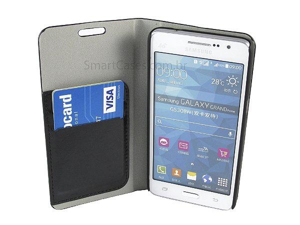 Capa Samsung Gran Prime Carteira Couro