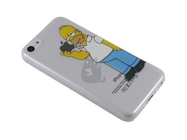 Capa Iphone 5C Homer Simpson Comendo Maçã