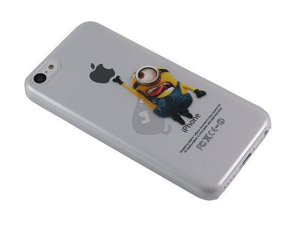 Capa Iphone 5C Minion Pegando Maçã