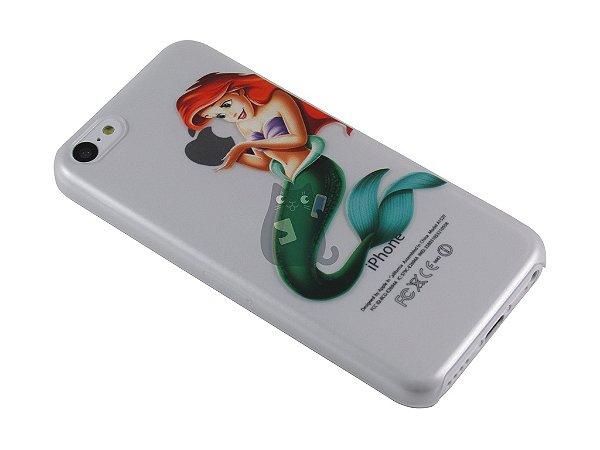 Capa Iphone 5C Pequena Sereia Segurando Maçã
