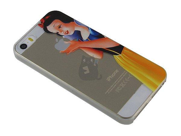 Capa Iphone 5/S Branca de Neve Segurando Maçã